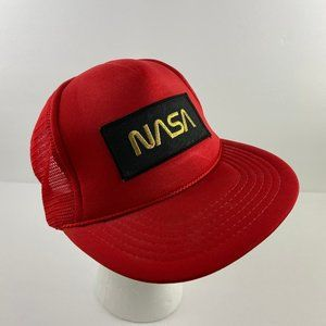 Vintage NASA Snapback Hat 1970s Embroidered Patch